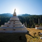 Chendebji Chorten, a large Buddhist monument on the road from Wangdue to Trongsawhich, was built in the Nepalese style in the 18th Century to nail a demon to the ground that was terrorizing the valley.