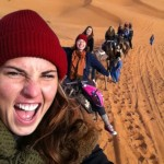 Camel riding in the Sahara Desert. Photo: Katherine Maus O.A.R.S. Outdoor Selfie Contest Favorite