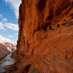 Nankoweap cliff dwellings hidden along a hard to reach ledge in the Grand Canyon. Photo: Monty Pollack