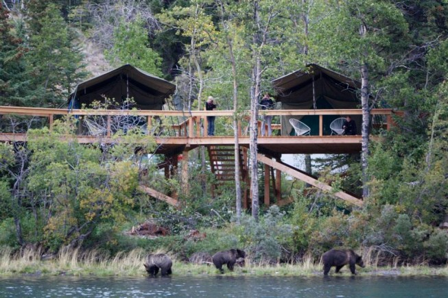 Bear Camp at Chilko Lake, BC