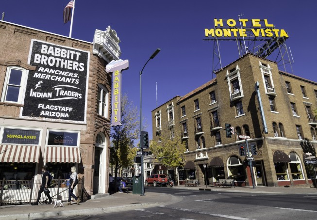 Historic Downtown Flagstaff - O.A.R.S. Grand Canyon rafting meeting spot