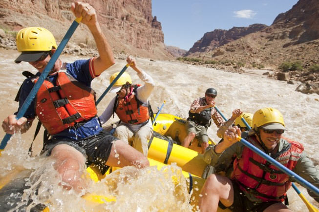 Whitewater Rafting in Catract Canyon, UT