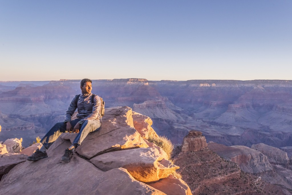Taking in the view from Ooh Aah Point.