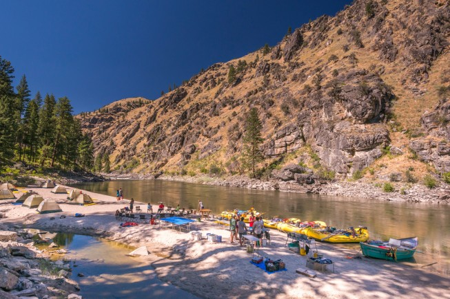 Camping on the Main Salmon River, Idaho