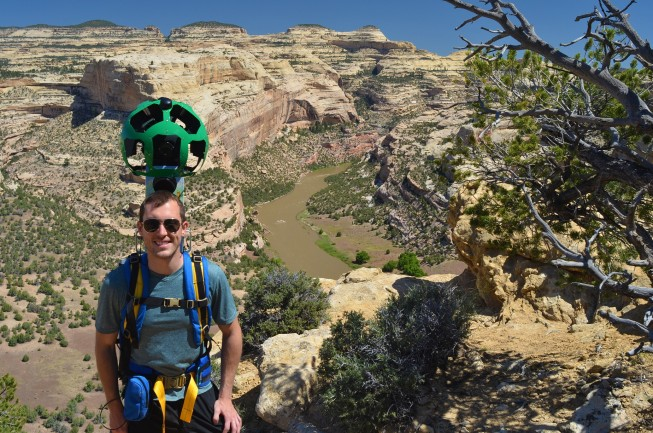 Harding Hole Overlook - Devin Dotson of American Rivers with Google Street View Trekker