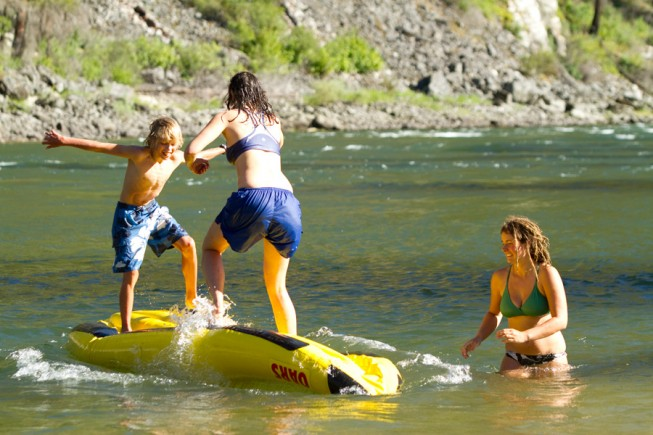 Family vacation: Whitewater rafting
