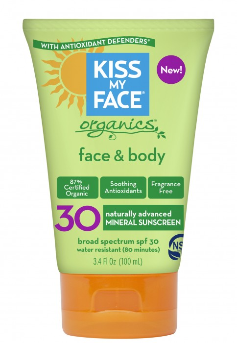3.4oz Organic Face & Body SPF 30