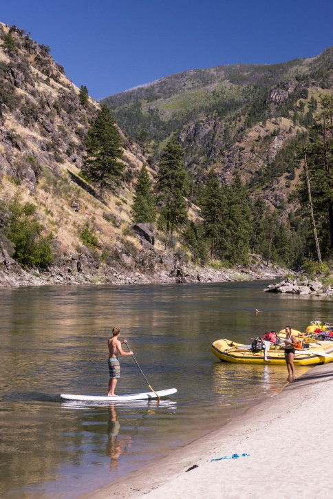 Standup Paddleboarding on Main Salmon River