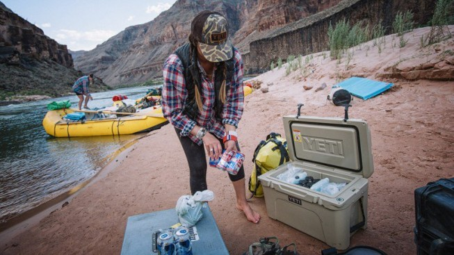 YETI coolers on an O.A.R.S. Grand Canyon rafting trip| Photo: Outside