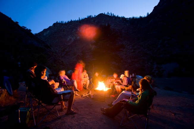 Campfire on the Middle Fork Salmon River