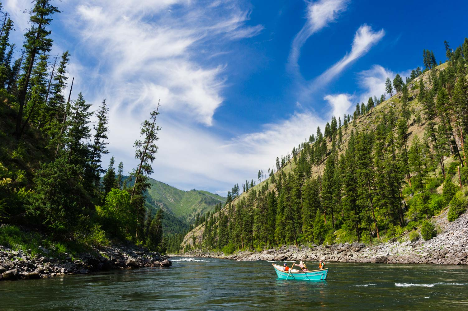 Salmon River Rafting On The River Of No Return With Oars