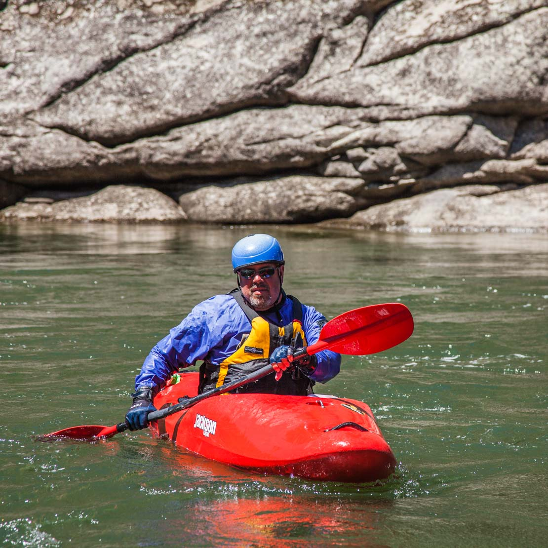 Whitewater Kayaking Man