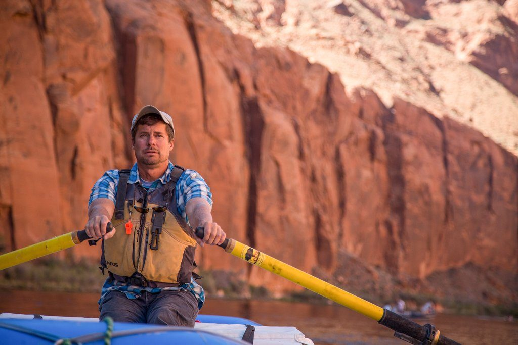 Kevin Fedarko in Glen Canyon, Colorado River