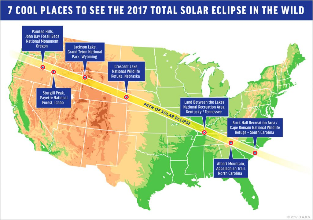 best places to see the total solar eclipse 2017 time