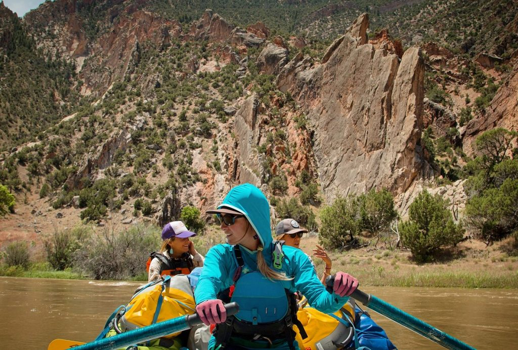 A Boat Full of Women on a Yampa Rafting Trip | Photo: Hilary Oliver