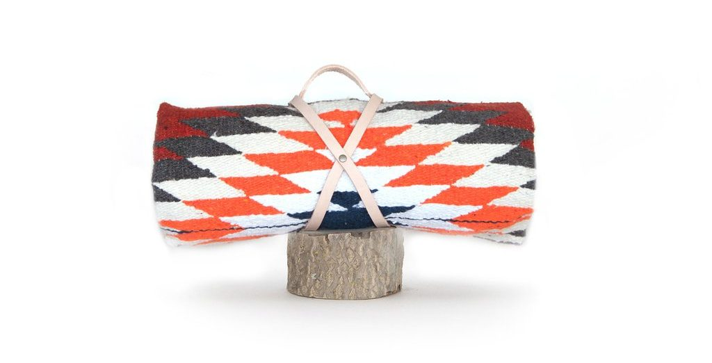 Gift Ideas for Outdoor Women | Nipomo Orange Rust Blanket