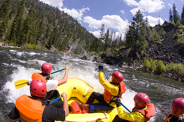 Paddle Rafting fun on Idaho's Middle Fork Salmon River
