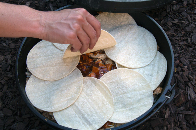 How to Make Dutch Oven Enchilada Pie